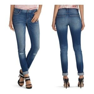 White House Black Market Distressed Skimmer Jeans